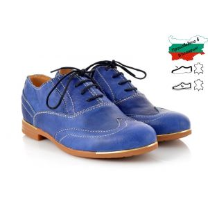 Дамски Обувки - 1393301 - Синя Кожа