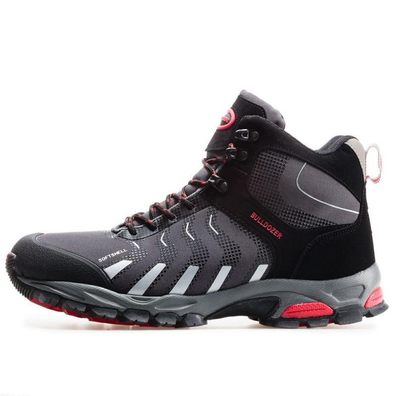 17cb87e16c3 Мъжки Високи Водоустойчиви Обувки Bulldozer - 62239 - Сиво и Червено